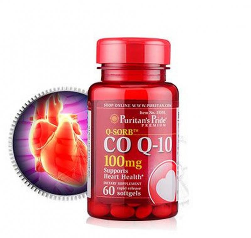 Thuốc uống ngăn ngừa nhồi máu cơ tim Puritan's Pride Coq10 và L-Carnitine 60 viên