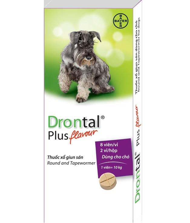 Thuốc xổ giun Drontal Plus Bayer cho chó