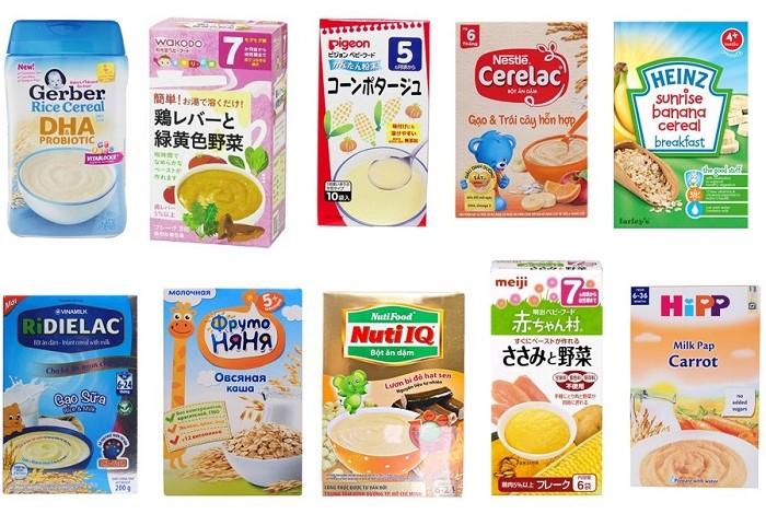 Top 4 thương hiệu bột ăn dặm Nhật Bản được yêu thích nhất trên thị trường hiện nay.
