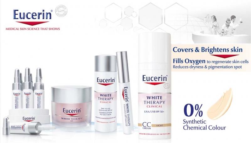 Thế mạnh của Eucerin là những dòng sản phẩm làm trắng da, trị nám, chống lão hóa...