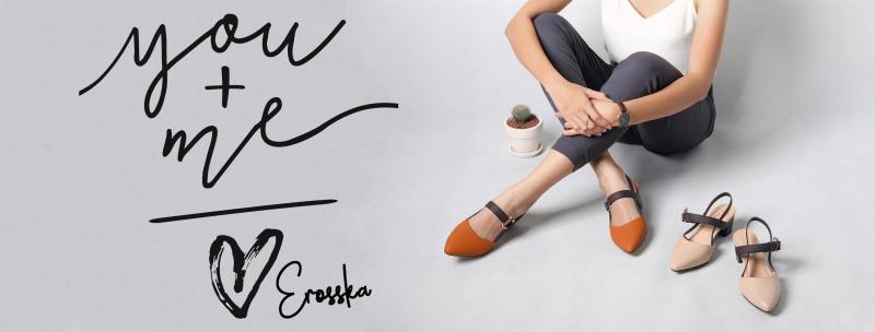Thương hiệu giày nổi tiếng Erosska có mặt trên Shopee