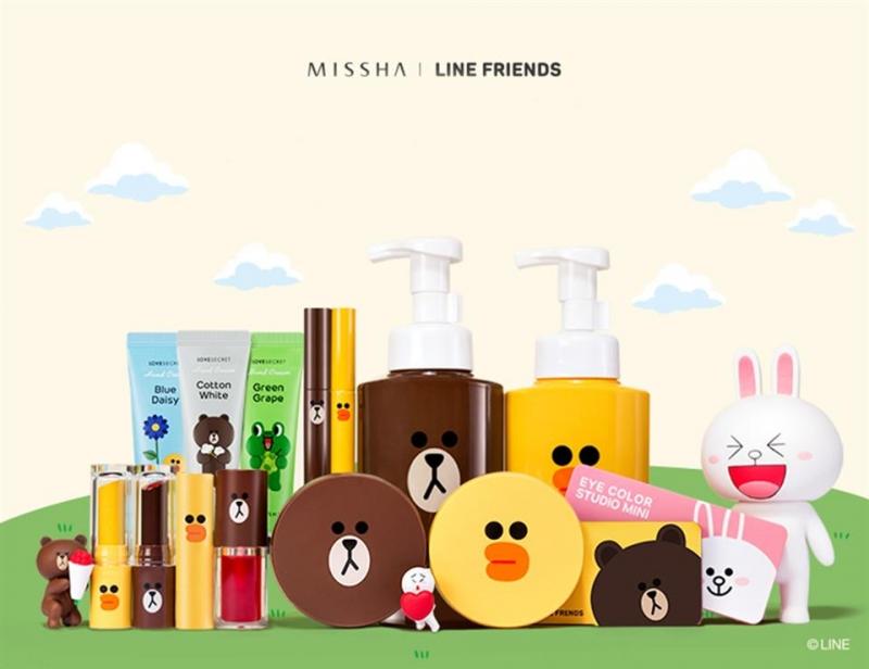 Missha nổi tiếng với bộ sưu tập thú Line