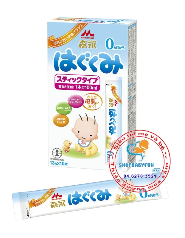 Sữa Morigana số 0 Nhật Bản dạng thanh