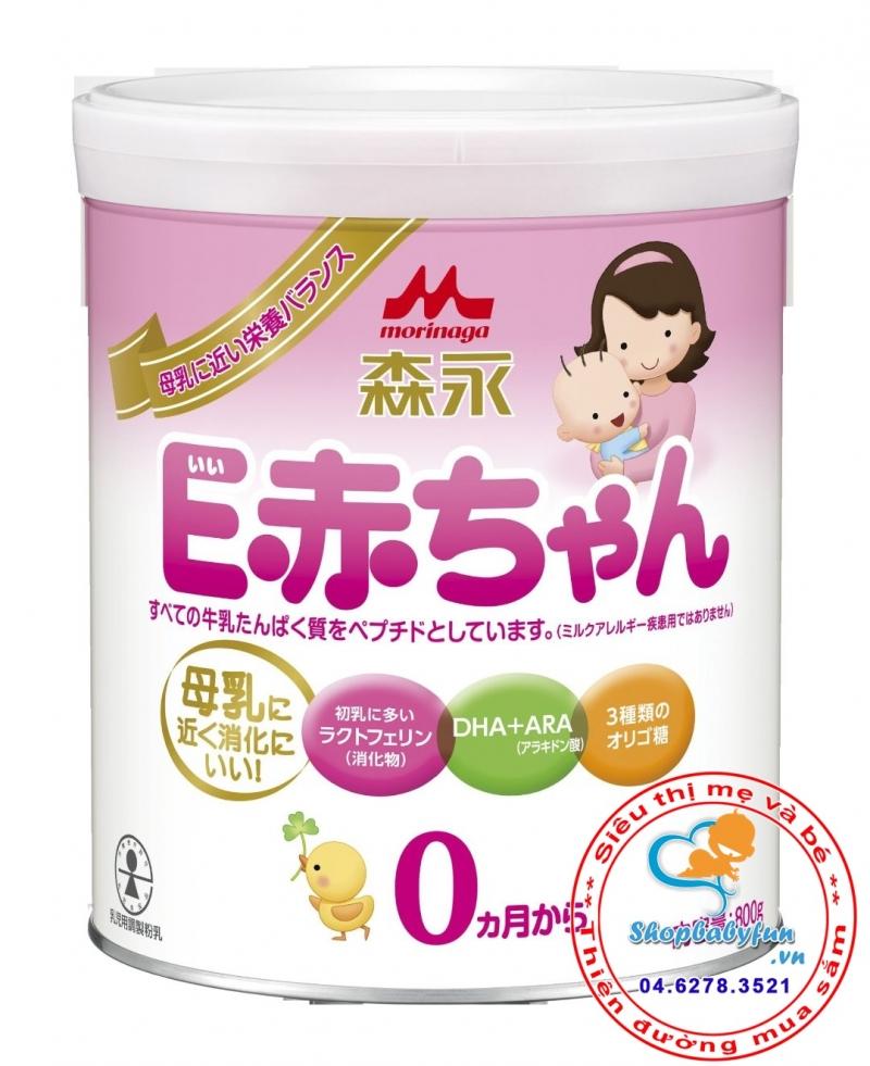 Sữa Morigana số 0 Nhật Bản dạng hộp dành riêng cho bé sinh non