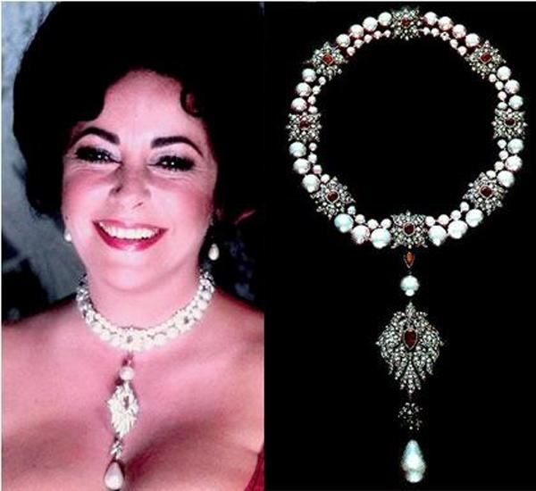 Elizabeth Taylor và chiếc vòng cổ ngọc trai La Paregrina.