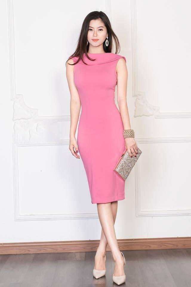 Váy hồng tiểu thư