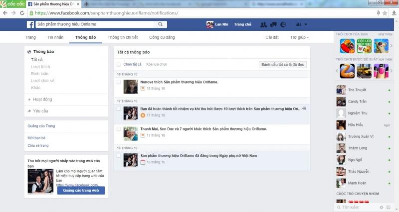 Thường xuyên theo dõi hoạt động và các chỉ số trang Facebook