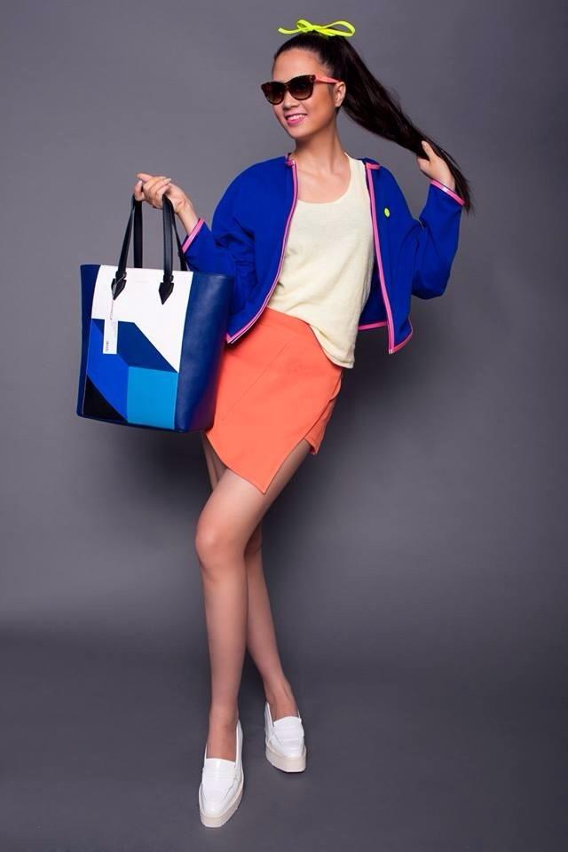 Thúy Hạnh khi làm người mẫu cho chương trình Project Runway Việt Nam 2014.