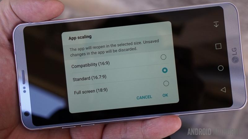 Tỉ lệ màn hình 18:9 trên LG G6