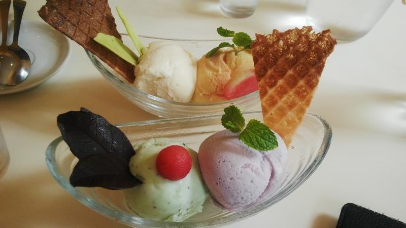 Trang trí của kem Tiamo.