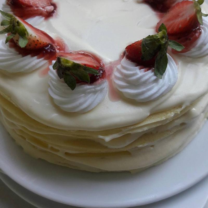 Bánh kem xốp mềm, thơm ngon