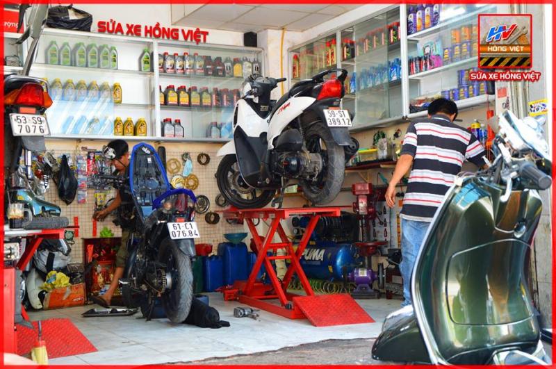 Tiệm sửa chữa xe máy Hồng Việt