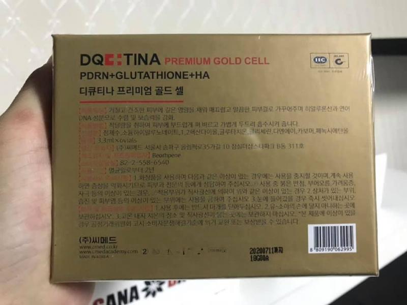 Tiêm tinh chất DNA Cá Hồi DQ Tina 3%