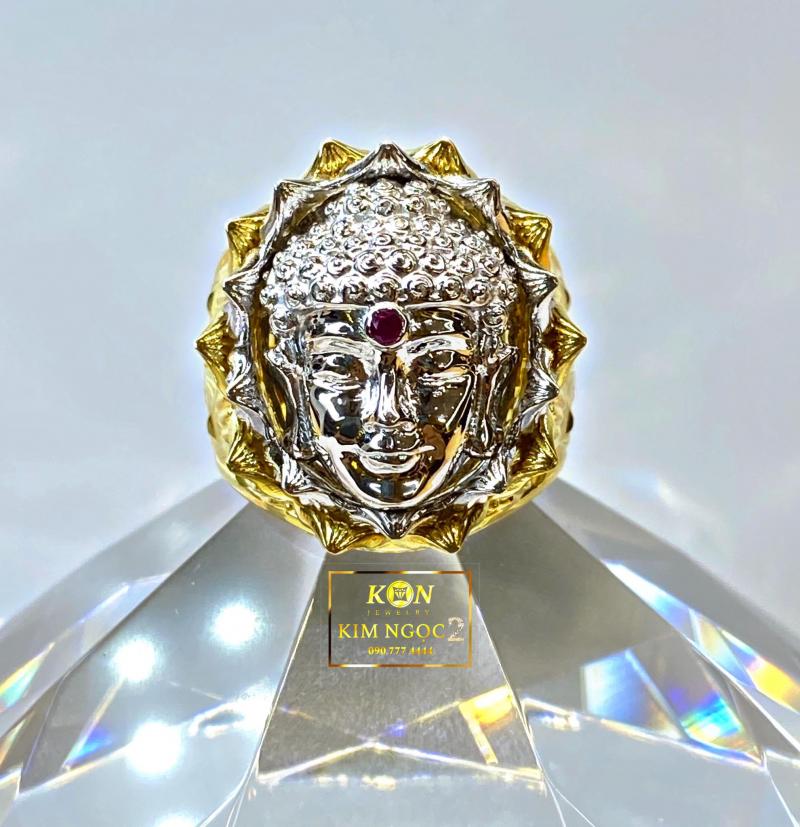 Mẫu nhẫn Phật trong sen tại tiệm vàng Kim Ngọc 2