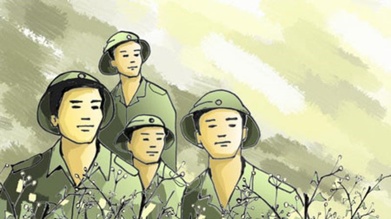 Đất nước mênh mông nắng cháy Mai Nguyễn mặc áo lính, khoác ba-lô