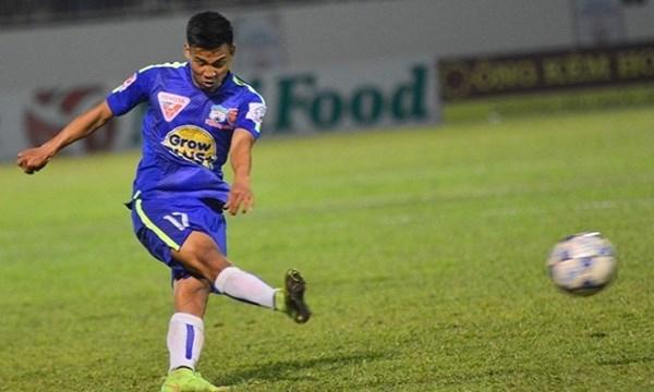 Tiền vệ Vũ Văn Thanh, số áo 17