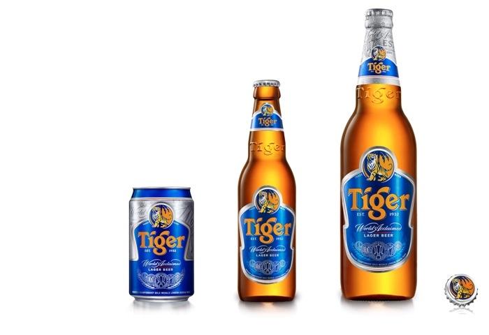 Tiger Beer chai và lon