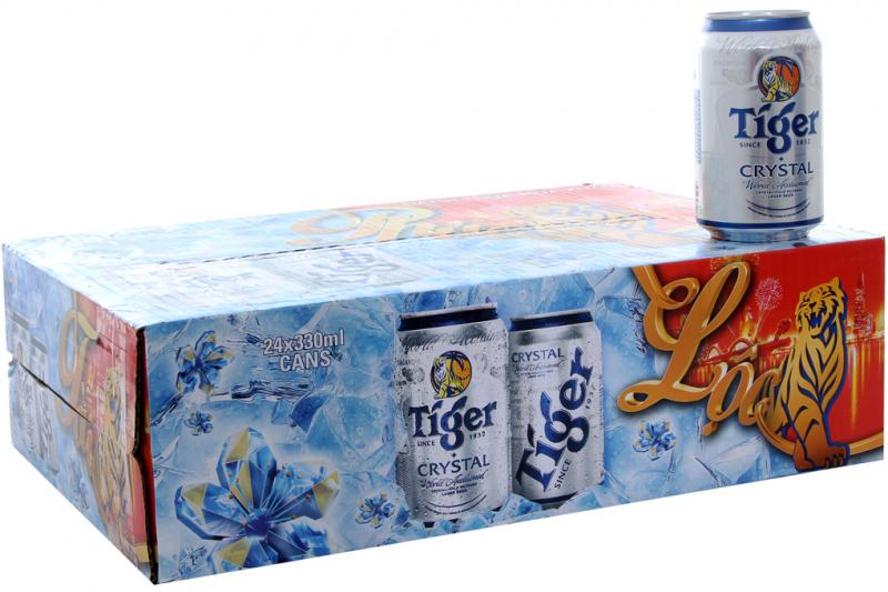 Tiger Crystal Beer (Việt Nam, Thùng 24 Lon 330ml)