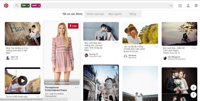 Tìm hình ảnh với Pinterest.com