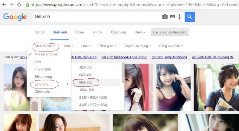 Tìm kiếm ảnh bằng công cụ search thông dụng của Google