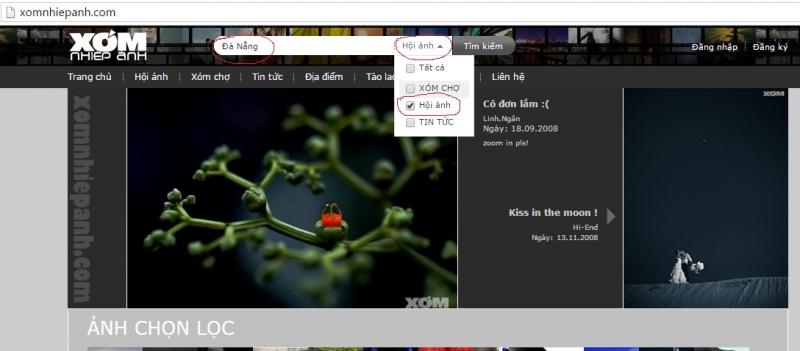Tìm kiếm ảnh trên Xomnhiepanh.com
