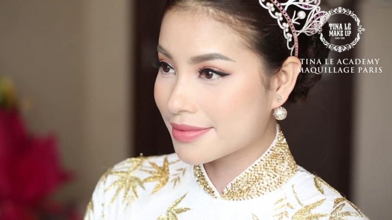 Hoa hậu Phạm Hương với bàn tay makeup của Tina Lê