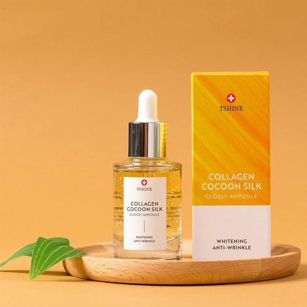 serum Collagen Cocoon Silk Glossy Ampoule Tshine