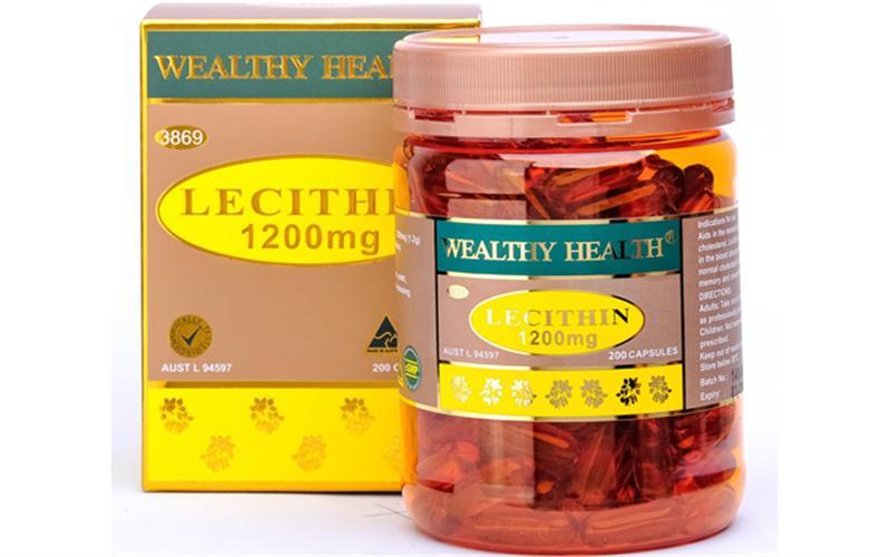 Tinh chất mầm Đậu Nành LECITHIN Wealthyhealth Úc 1200mg, hộp 200 viên