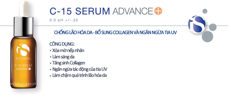 Tinh chất serum is clinical vitamin C 15%