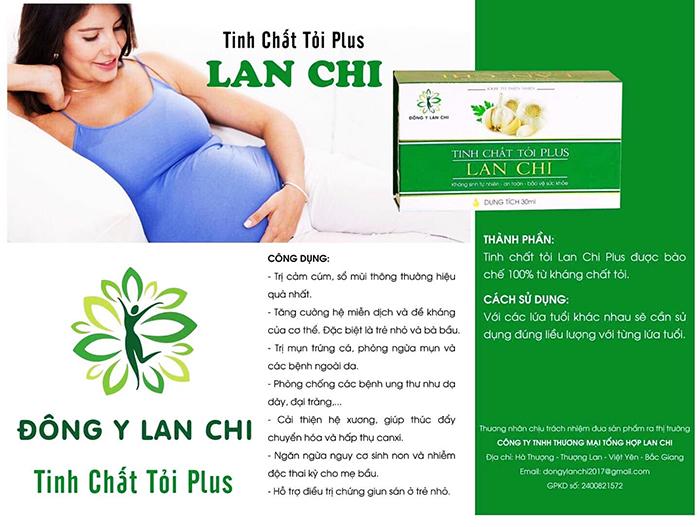 tinh chất tỏi Plus Lan Chi giúp chị em dễ dàng sử dụng để bảo vệ sức khỏe cho bé và cả gia đình.