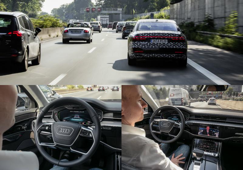 Tính năng xe tự lái trong tình trạng kẹt xe Audi AI Traffic Jam Pilot