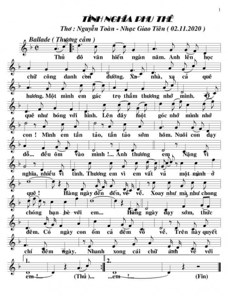 Bài thơ đã được nhạc sĩ Giao Tiên phổ nhạc