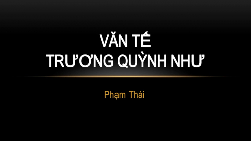 Tình yêu Phạm Thái - Trương Quỳnh Như