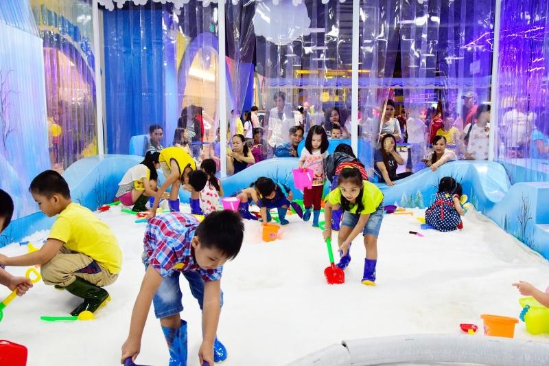 Các bé sẽ thích mê với các trò chơi, vận động liên hoàn mà không biết chán