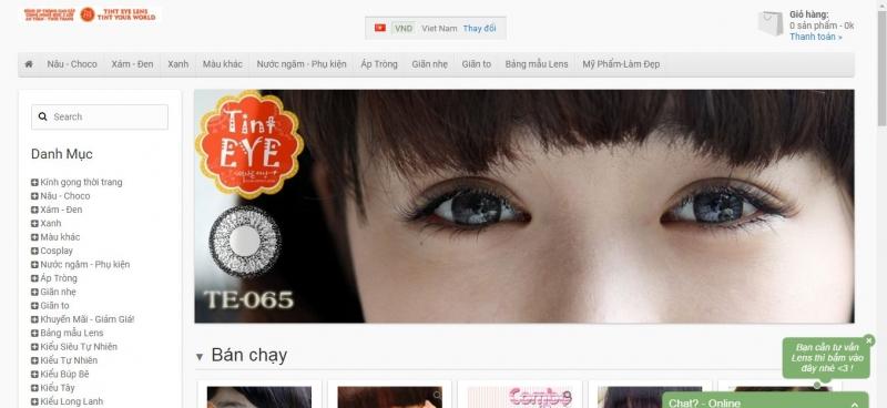 Website của Tint Eye Lens