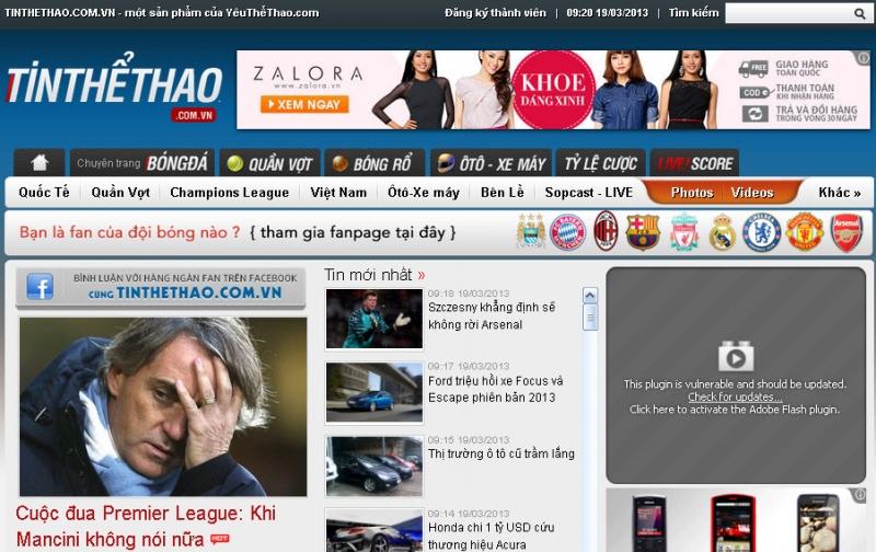 Tinthethao.com.vn - kênh tin tức thể thao trực tuyến