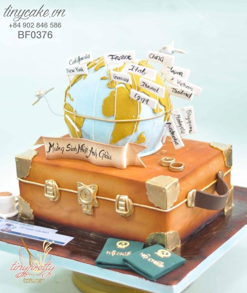 Chiếc bánh sẽ làm hài lòng những vị khách thích đi du lịch vòng quanh khám phá thế giới
