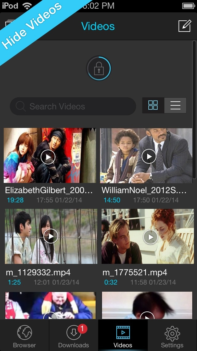 Giao diện nền của ứng dụng cũng cho phép tìm kiếm trực tiếp các video trên mạng phù hợp để download
