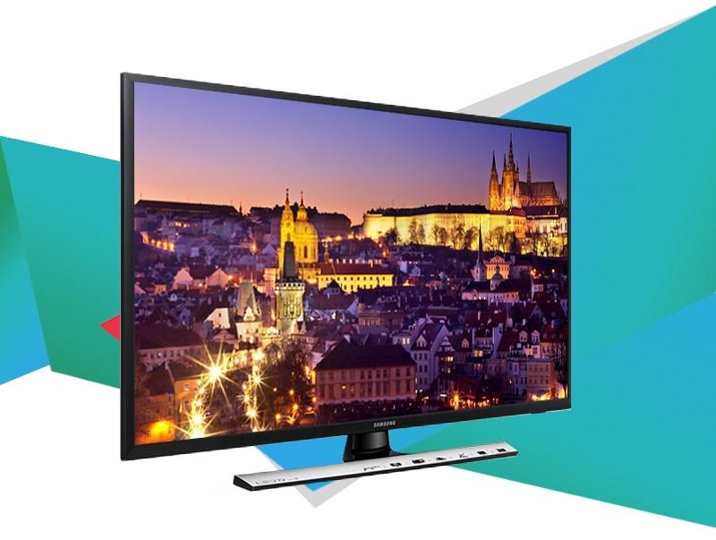Tivi Samsung 28 inch UA28J4100 có thiết kế dạng khung tranh với chân đế có thể dễ dàng chuyển đổi
