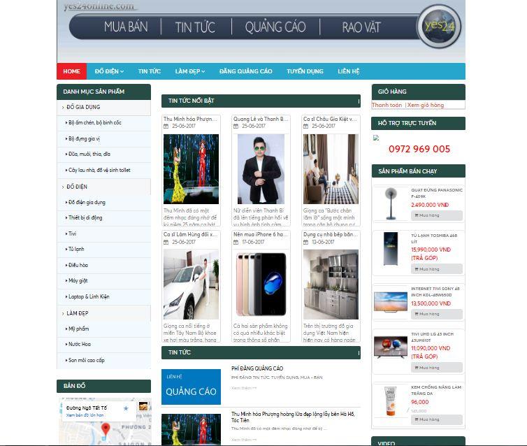 Giao diện website Tin tức