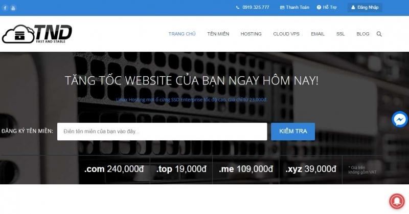 Giá cả thiết kế Web của TND luôn mang tới sự cạnh tranh cho khách hàng.