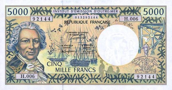 Tờ franc của vùng Polynesia thuộc Pháp