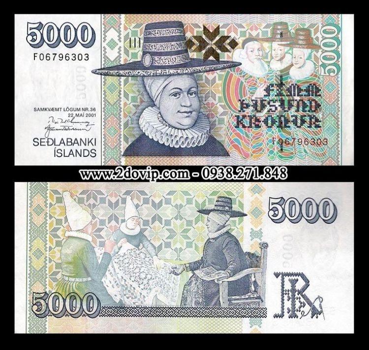 Tờ kronur của Iceland