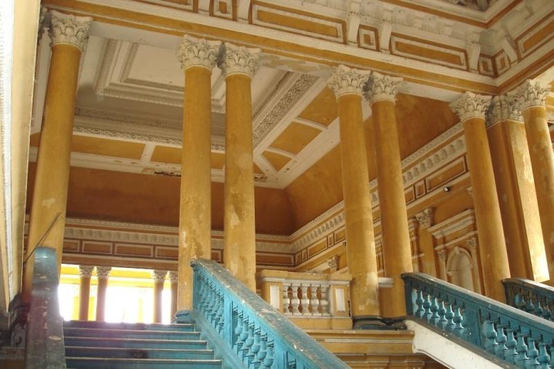 Một góc cầu thang bên trong