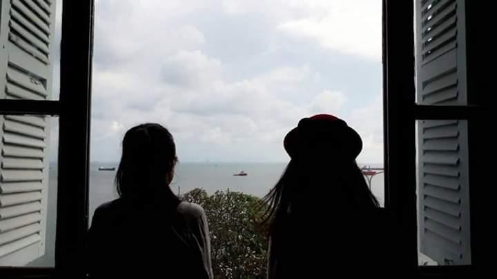 View nhìn từ cửa sổ của một gian phòng ở Bạch Dinh