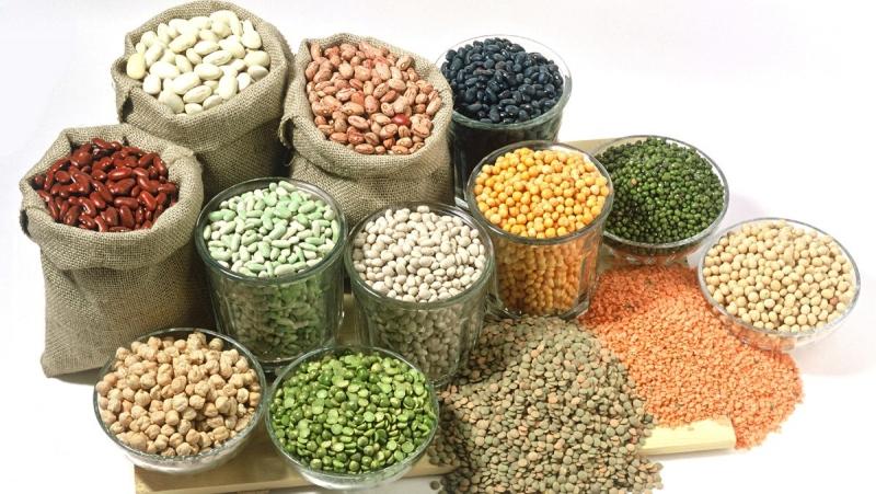 Các loại đậu, gạo làm ngũ cốc