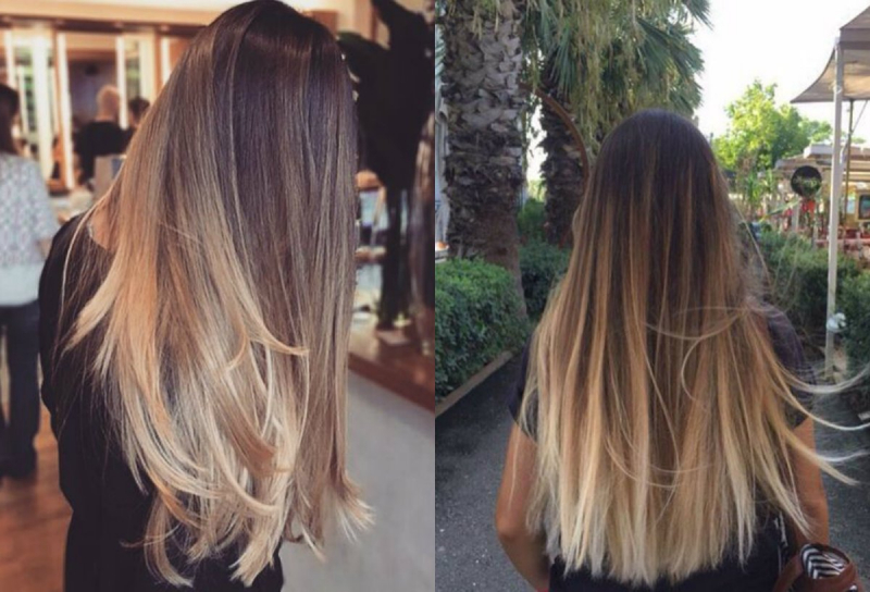Tóc thẳng phủ màu