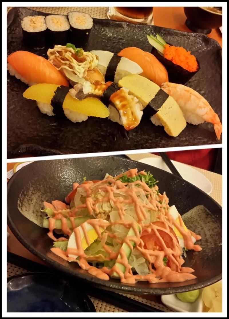 Sushi và salad