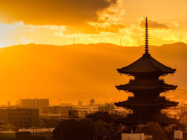 Kyoto cảnh hoàng hôn