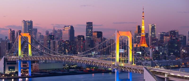 Tokyo rực rỡ dưới ánh đèn đêm